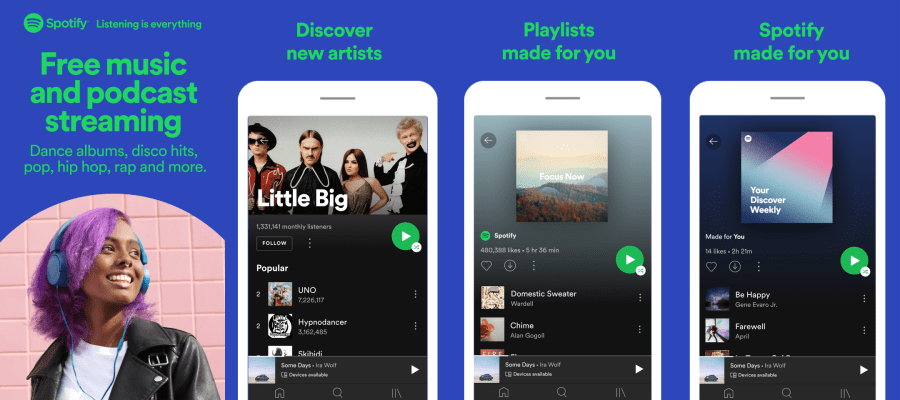 Spotify features