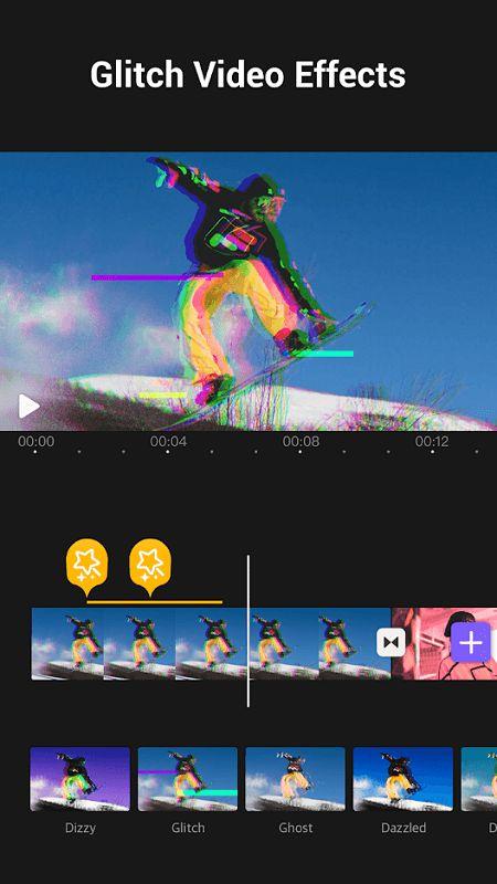 VivaCut Glitch features