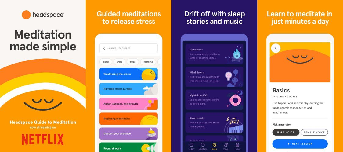 Headspace features