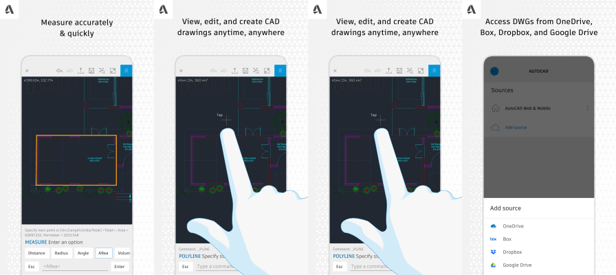 AutoCAD Mobile features