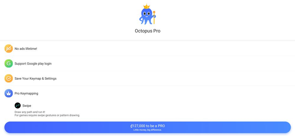 Octopus PRO-features