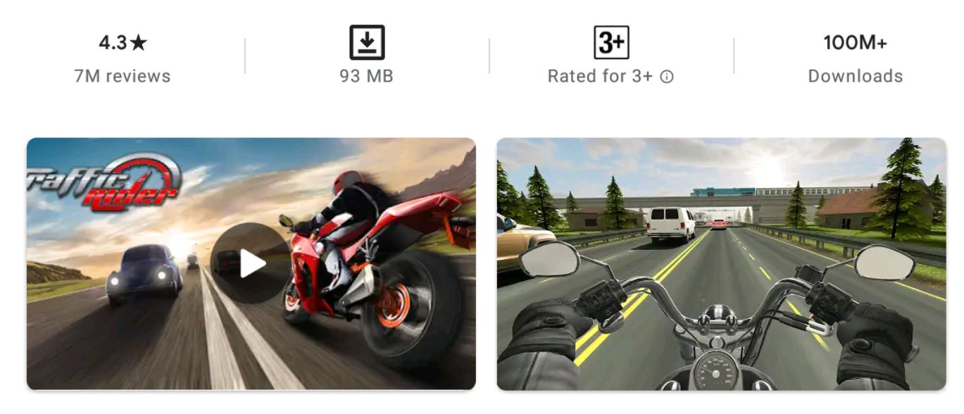 Traffic Rider features