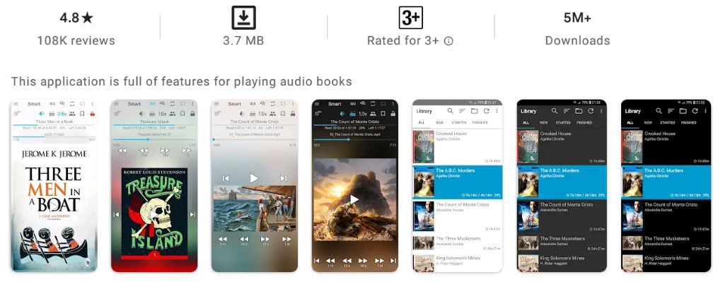Smart AudioBook Player-features