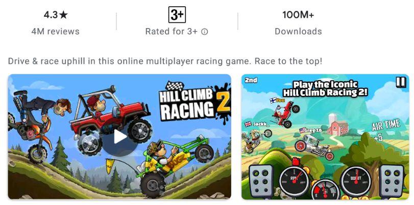 Hill Climb Racing 2 features