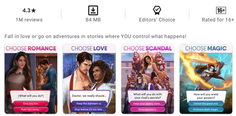 Choices-Stories You Play-features