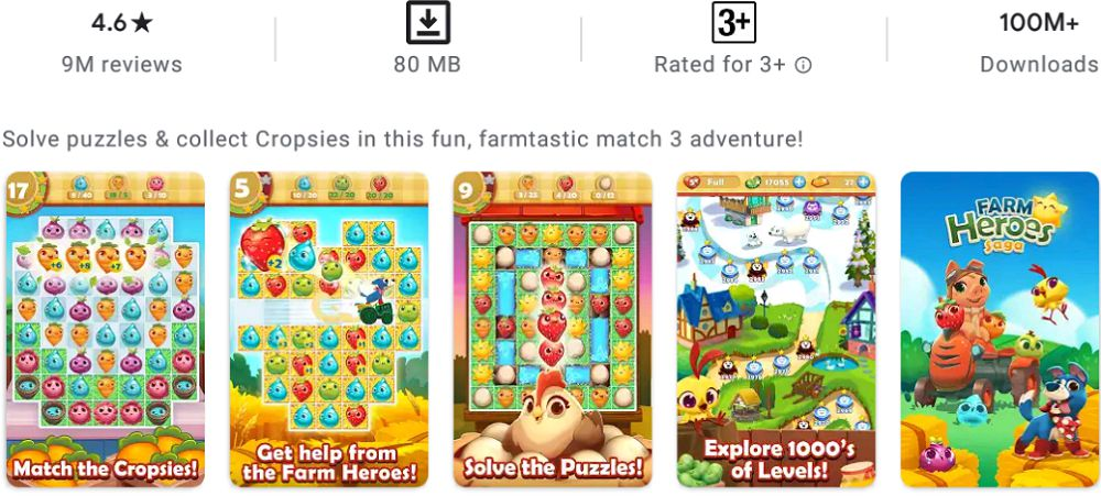 Farm Heroes Saga-features