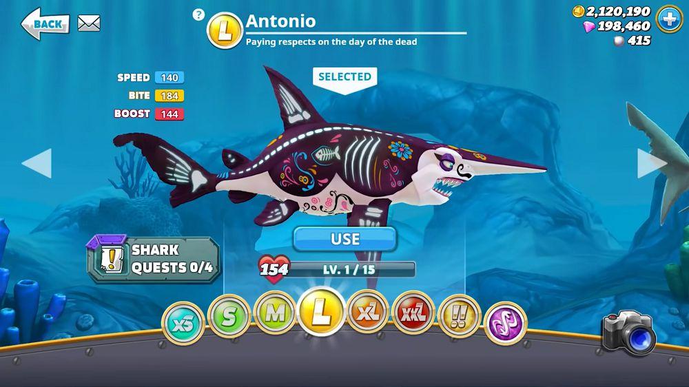 Hungry Shark World-shark-unlocked