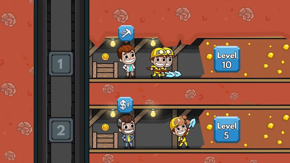 Idle Miner Tycoon-gameplay