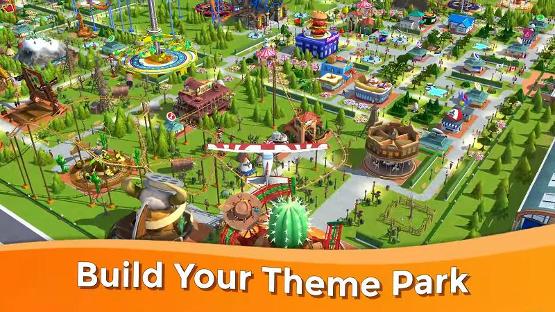RollerCoaster Tycoon Touch-gameplay