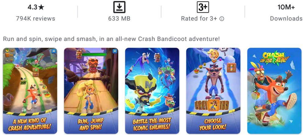 Crash Bandicoot-features