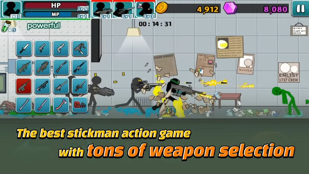 Anger of stick 5-weapons