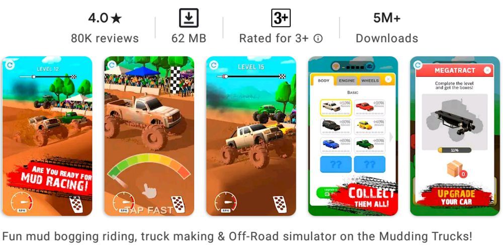 Mud Racing-mod-features